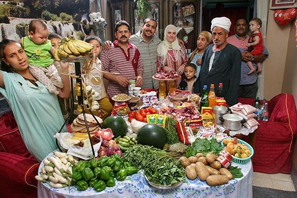Egitto (Cairo) La famiglia Dudo spende circa $90 a settimana