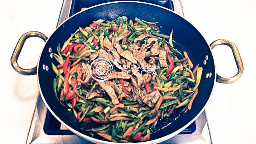 Dall'oriente di casa nostra: Verdure e Fettine saltate in Wok
