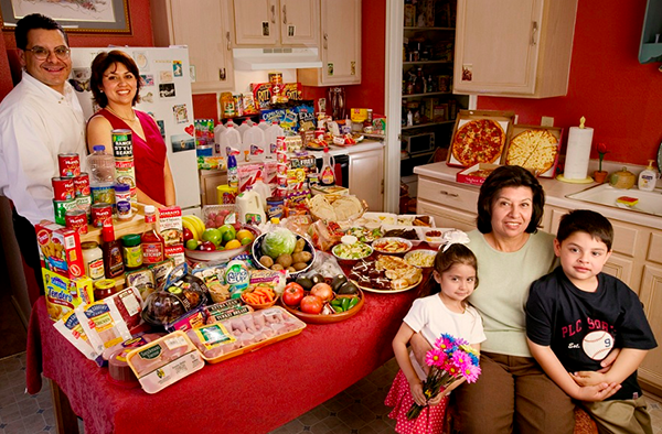 USA TEXAS The Fernandezes family spends around $242 per week.