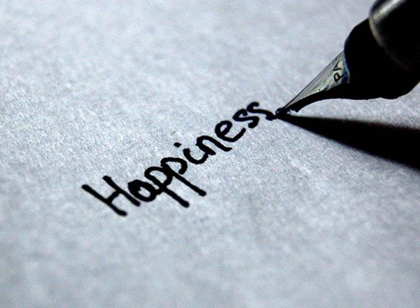 scrivere cose felici