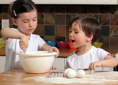 bambini che cucinano azienda agricola boccea
