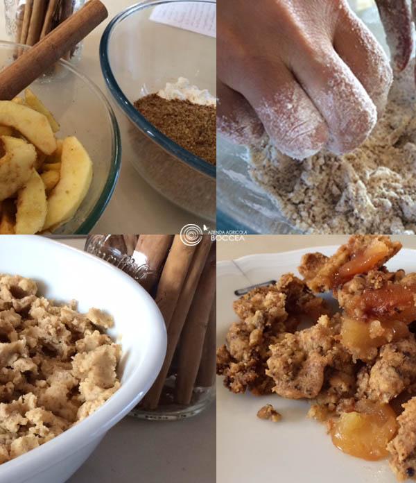 agricoltura bio roma azienda agricola boccea crumble di mele